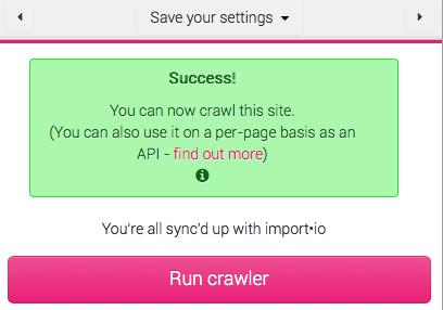 run crawler